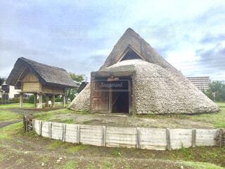 竪穴式住居の写真・画像素材[1800182]