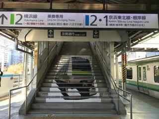 東神奈川駅ホーム階段の写真・画像素材[1782851]