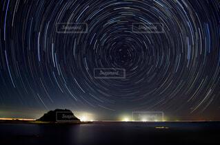 北の空の日周運動の写真・画像素材[1642323]