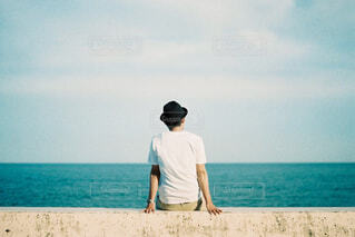 海を見る人の写真・画像素材[1661033]