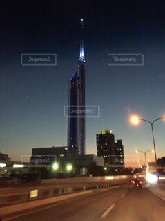 夜の街の景色の写真・画像素材[1662017]