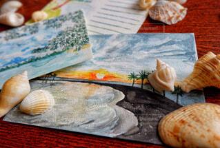 懐かしの風景を現地の貝殻とともにの写真・画像素材[1653546]
