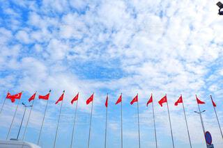 ずらっとトルコ国旗!の写真・画像素材[1819583]