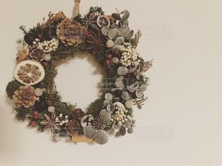 クリスマスリースの写真・画像素材[1652675]