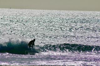 海上を滑る男の写真・画像素材[1649019]