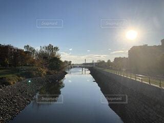 橋から川の写真・画像素材[1650640]