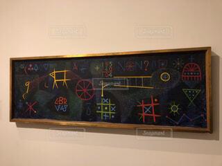 壁の黒板看板の写真・画像素材[1651416]