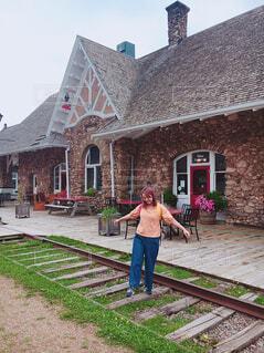駅と私の写真・画像素材[1651507]