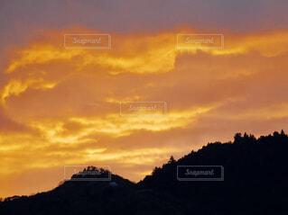 夕焼け、春の写真・画像素材[1956833]