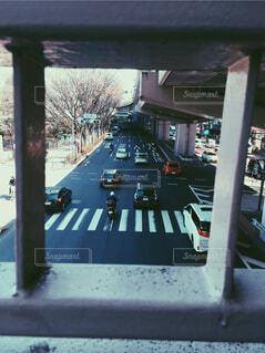 歩道橋から見える景色の写真・画像素材[1885331]