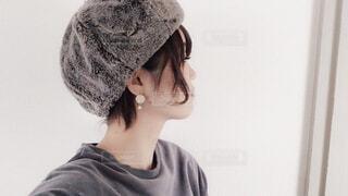 帽子をかぶっている人の写真・画像素材[1655731]