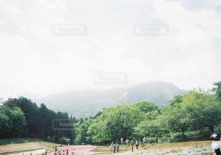 山の道路上の人々 のグループの写真・画像素材[1655812]