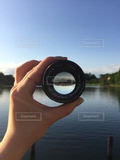 レンズ越しの景色の写真・画像素材[1655883]