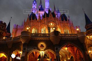 夜のシンデレラ城の写真・画像素材[1663923]