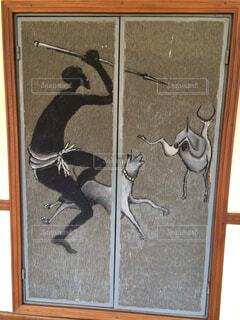 ウガンダのホテル内の壁絵の写真・画像素材[1655656]