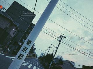 街の通りのビューの写真・画像素材[1660624]
