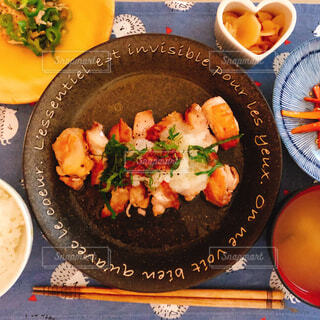 鶏肉の梅おろし焼きの写真・画像素材[1661714]