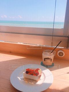海の見えるカフェの写真・画像素材[1661880]