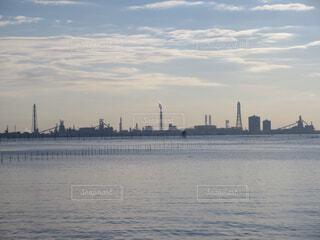 江川海岸の海中電柱の写真・画像素材[1725023]