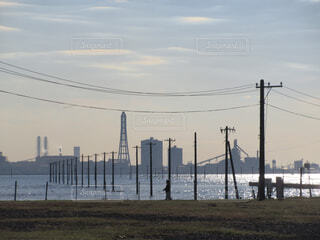 江川海岸の海中電柱の写真・画像素材[1725025]