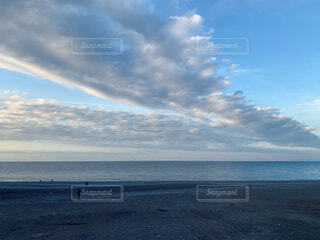 美しい冬の海の写真・画像素材[1664809]