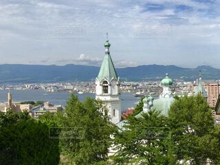 高台から函館の街をの写真・画像素材[1666496]
