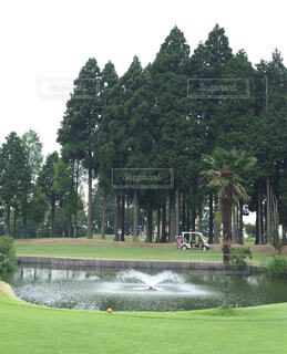 ゴルフ場の景色。の写真・画像素材[1729975]