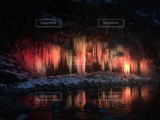 水の体に沈む夕日の写真・画像素材[1667909]