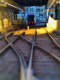 鋼のトラックの列車の写真・画像素材[1702110]