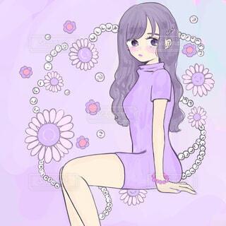 紫色と真珠の写真・画像素材[1683265]