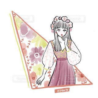星座 乙女座のイラストの写真・画像素材[4224445]