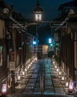石塀小路・花灯路の写真・画像素材[1691480]