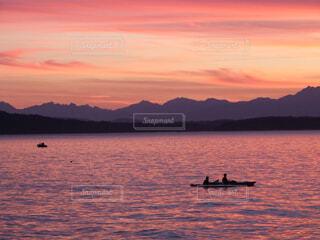 アルカイビーチの夕焼けの写真・画像素材[1691683]