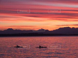 アルカイビーチの夕焼けの写真・画像素材[1691684]