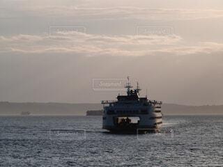 ピュージット湾のフェリーの写真・画像素材[1691841]