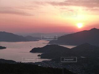 高見山からの夕焼けの写真・画像素材[1694836]