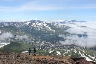 大雪山登山の写真・画像素材[3366007]