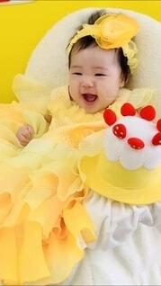 ケーキと笑顔の写真・画像素材[4175590]