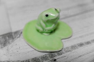 横向き蛙さんの写真・画像素材[2104920]