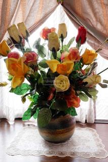 造花のバラの写真・画像素材[2290414]