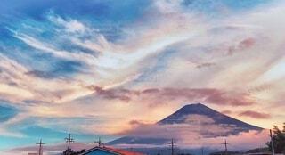 夕日のナカの富士の写真・画像素材[1670181]