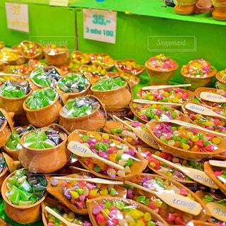 タイの屋台の砂糖菓子の写真・画像素材[1682278]