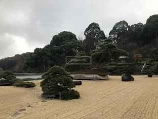 熱海の日本庭園、枯山水(2018年撮影)の写真・画像素材[1687602]