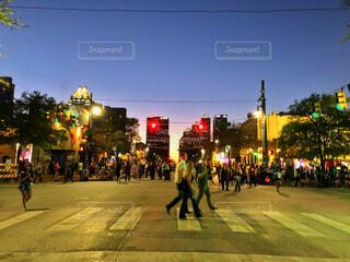 テキサスの街の夕暮れの写真・画像素材[2913661]