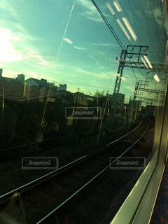 電車からの車窓の写真・画像素材[1678587]