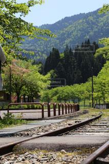 下り列車を走行する列車は森の近く追跡します。の写真・画像素材[1682307]