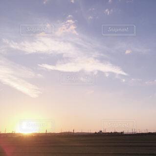 秋田の夕焼けの写真・画像素材[1785142]