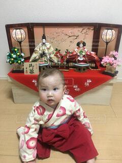 ひな祭り 赤ちゃんの写真・画像素材[1676275]
