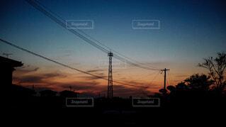 夕暮れ時の景色の写真・画像素材[1676557]