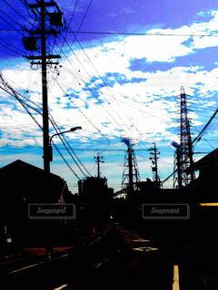 煙突、衣浦港の写真・画像素材[1678558]